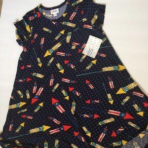 Lularoe Kids Scarlett Dress Americana 10